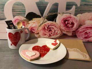 Desayuno con amor / tazas / galletas / café