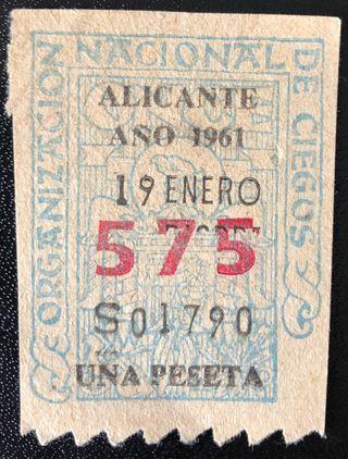 Billete de Alicante de 1961- Nº: 575