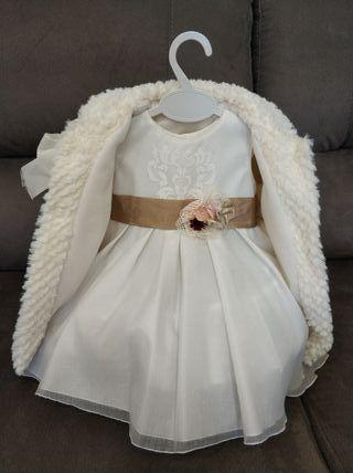 vestido y abrigo ceremonia