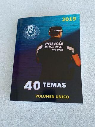 Temario policia municipal Madrid 2019