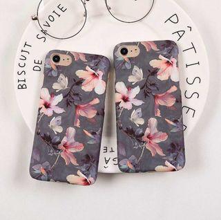 Funda para iPhone silicona o cristal flores