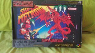 cuadro lampara Super Metroid Nueva