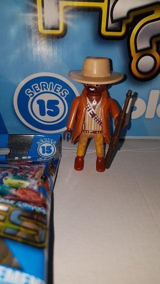 playmobil serie 15 chico sheriff negro oeste