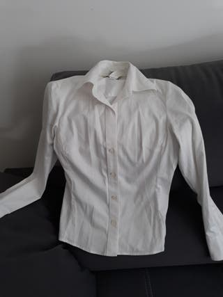 Camisa mujer blanca banana republic de segunda mano por 10
