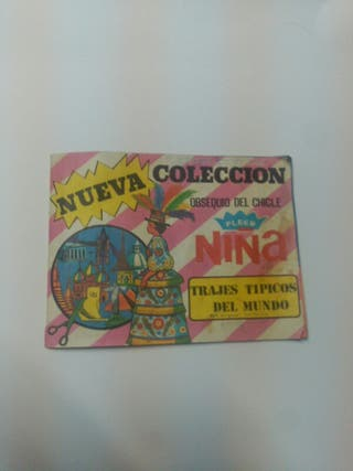 album cromos chicle niña