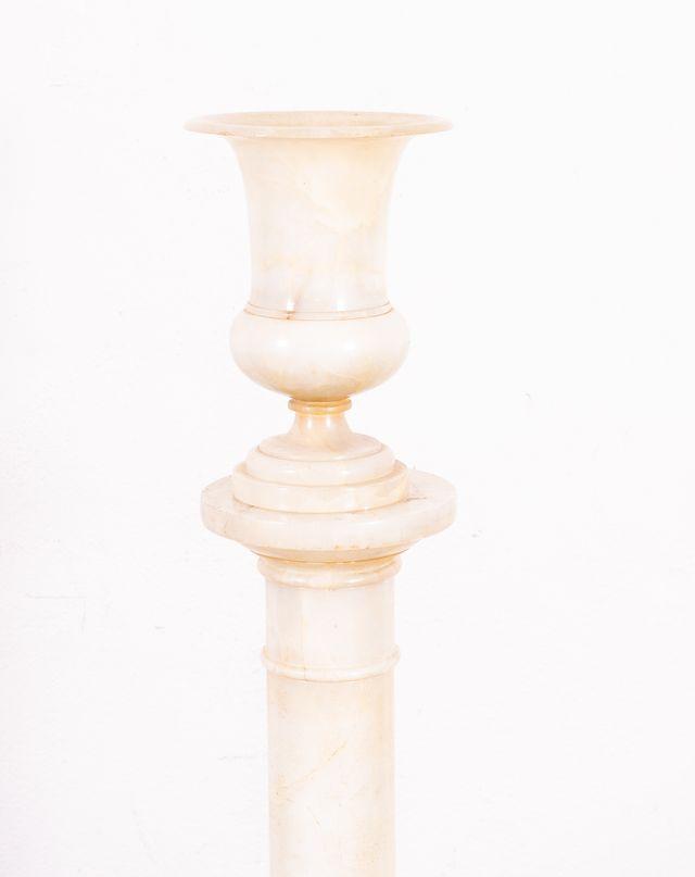 Pedestal Antiguo De Alabastro