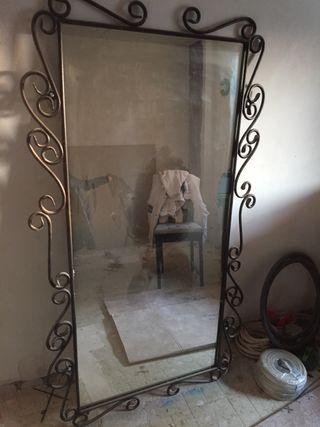 Espejo de hierro forjado de segunda mano en wallapop for Espejos segunda mano barcelona