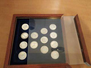 colección de monedas de plata de 2,5 cm