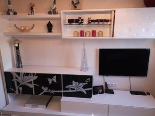 Mueble de Salon de Diseño lacado Blanco