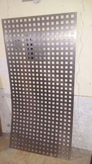 Chapa hierro perforada