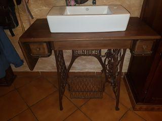 mueble lavabo rustico