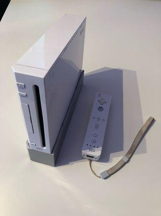 Wii con mando y joystick white