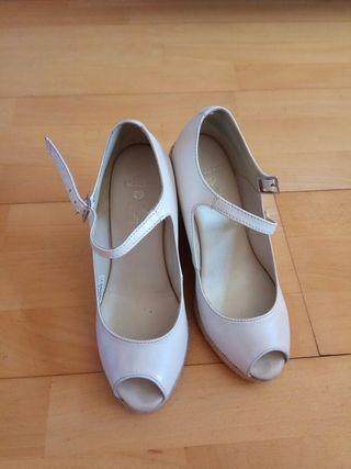 sandalias de piel para novia