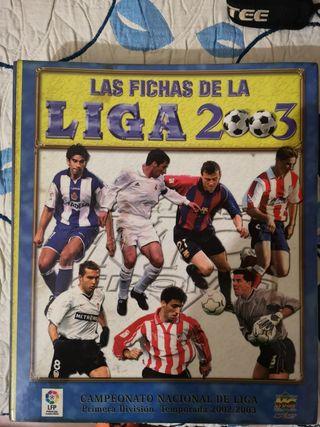 Álbum de cromos la liga 2003