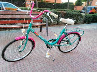 bicicleta vintage años 80 plegable