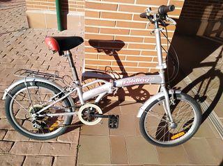 Bicicleta plegable de aluminio