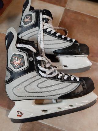 patines de hielo.