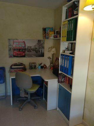 mueble de escritorio y libreria