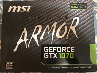 Nvidia gtx 1070 Msi Armor OC Edition