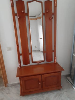 mueble recibidor de pino