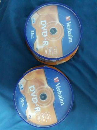 2 cajas verbatin DVD-R 16x2