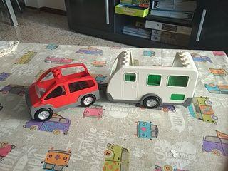 Coche y caravana lego duplo
