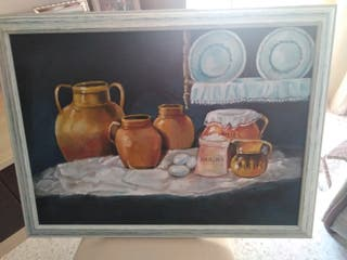 cuadro bodegón al óleo