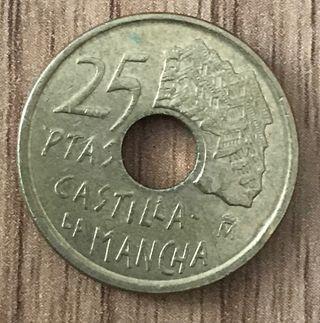 Moneda 25 pesetas 1996 Castilla la Mancha