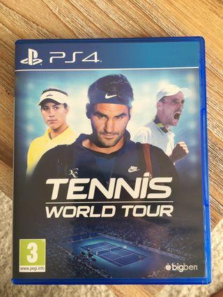 PS4 TENNIS WORLD TOUR.