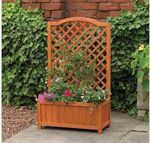 Garden Rectangular Wooden Plante
