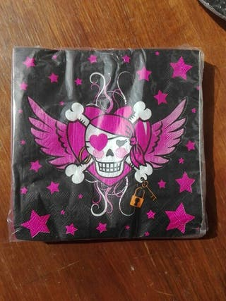 Servilletas desechables Pirata rosa