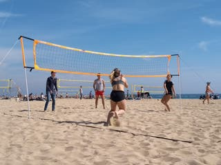 red de voleibol playa