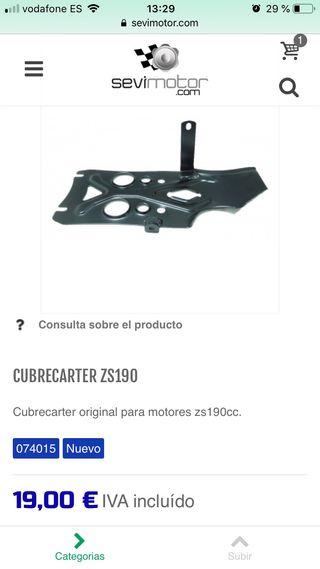 Cubrecarter pit bike