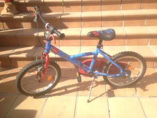 """Bicicleta niños btwin 16"""" (regalo ruedines)"""