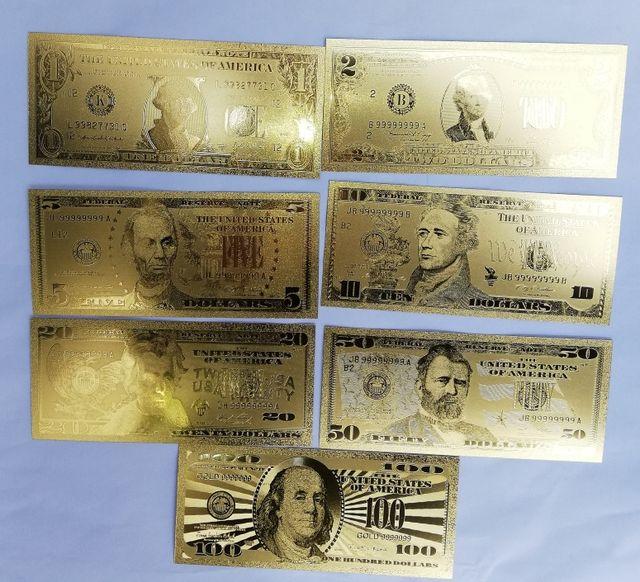 Réplica Billetes de dólar de oro placado de 24k.