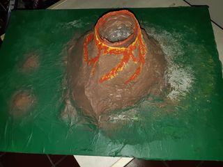 Experimento volcán grande. Actividad educativa