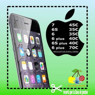 reparación pantalla iPhone Sony Xiaomi Huawei bq