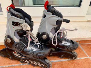 Patinas de 4 ruedas en línea niño roller skates