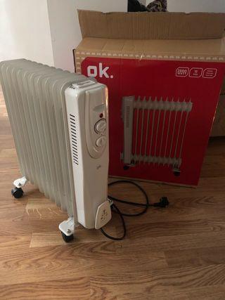 Calefactor radiador de aceite