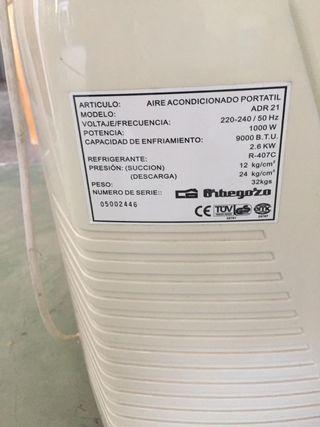 Aire acondicionado portátil Orbegozo 100€ cada uno