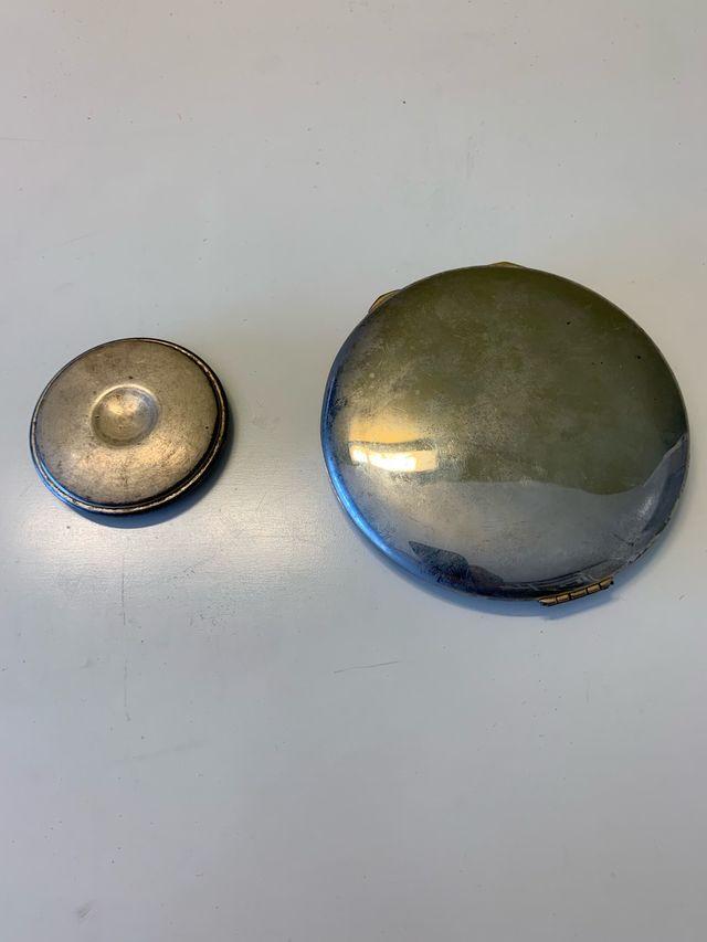 Polveras plata antiguas