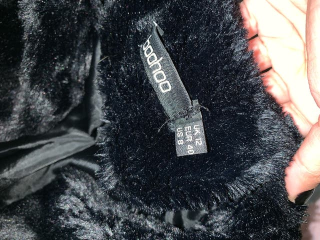 Bohoo black fur jacket