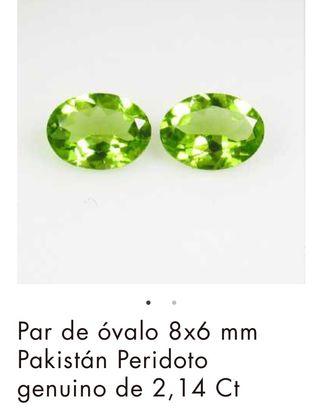 Pendientes esmeraldas peridotos diamantes