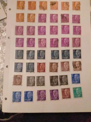 sellos de España y de Francia