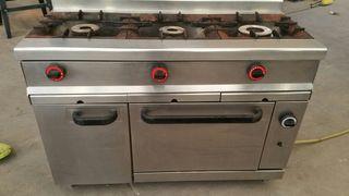 Cocina 3 fuegos y horno