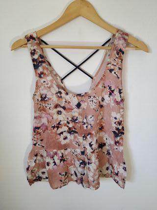 Camiseta flores S-M Pull&Bear