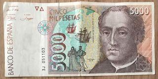 Billete 5000 pesetas
