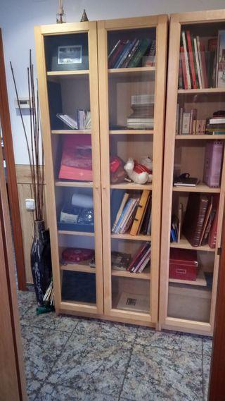 VITRINA BILLY IKEA 202x80x30 cm abedul