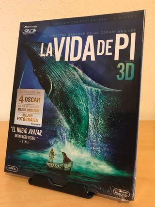 Bluray 3D La vida de Pi. Coleccionista 2 discos
