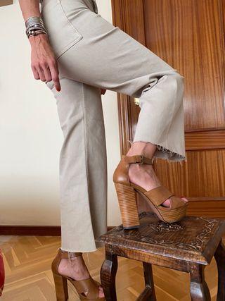 Sandalias marrones de plataforma